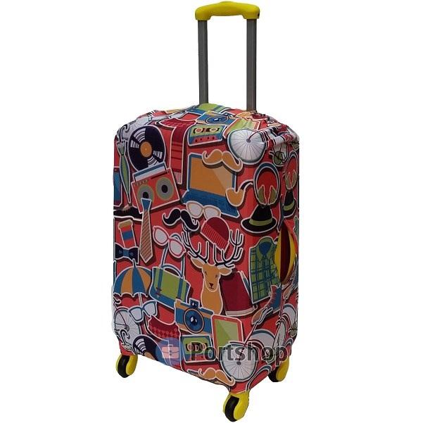 Чехол для чемодана средний Best Bags арт.1989960-M-FUN