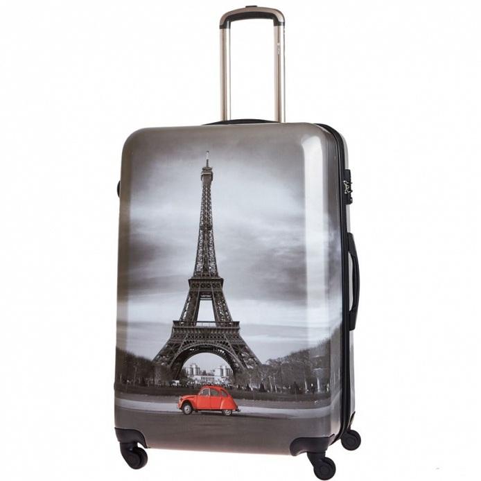 Чемодан большой Best Bags арт.Б-33340177 Paris By Night