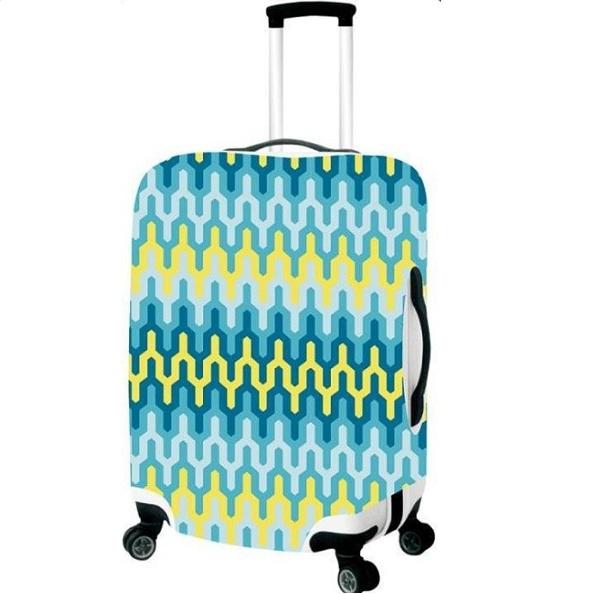 Чехол для чемодана средний Best Bags арт.4480460-M-ZIG-ZAG