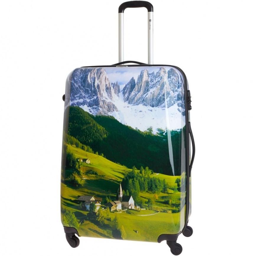 Чемодан большой Best Bags арт.Б-53624876 Summer Alps