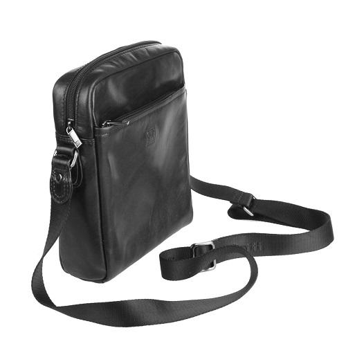 Черный планшет из натуральной кожи sergio belotti 9272 milano viareggio black